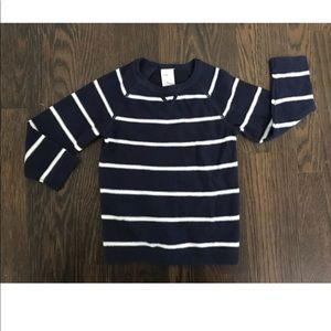 H&M navy & white light weight sweater sz12-18M
